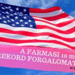 A Farmasi havi forgalma átlépte a 10 millió dollárt az Egyesült Államokban.