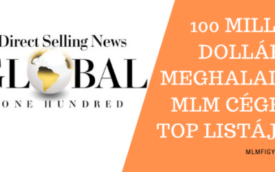 100 millió dollár forgalmat meghaladó TOP MLM cégek DSA listája 2020-ban